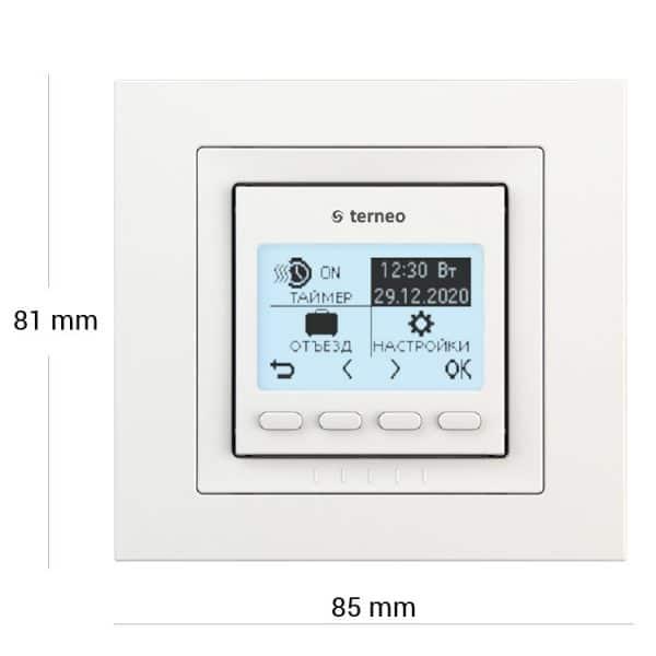 Терморегулятор terneo pro unic, білий, без датчика температури підлоги